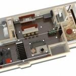 Dollhouse Overview of Plan 3 Basement Finishing Options in Warren NJ (1)-Design Build Planners