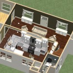 Dollhouse Overview of a Kitchen and Bathroom Remodel in Spring Lake NJ Plan 2 (1)-Design Build Planners