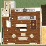 Dollhouse Overview of a Kitchen and Bathroom in Spring Lake NJ Plan 1 (1)-Design Build Planners