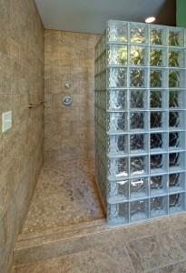 Glass block for bathroom remodeling ~ Design Build Planners (2)