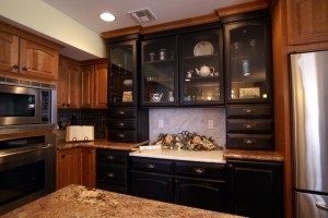 Black Painted Cabinets For A Kitchen Remodel