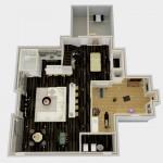 Dollhouse Overview of Basement Design Options in Monroe NJ Plan 3 (2)-Design Build Planners
