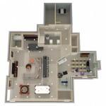 Dollhouse Overview of Monroe NJ Basement Design Options Plan 2 (2)-Design Build Planners