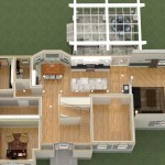 Dollhouse Overview of a Kitchen Remodel and More in Whitehouse Station NJ Plan 1 (1)-Design Build Planners