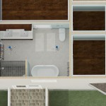 Dollhouse Overview of a Kitchen Remodel and More in Whitehouse Station NJ Plan 2 (1)-Design Build Planners