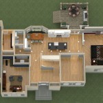 Dollhouse Overview of a Kitchen Remodel and More in Whitehouse Station NJ Plan 2 (2)-Design Build Planners