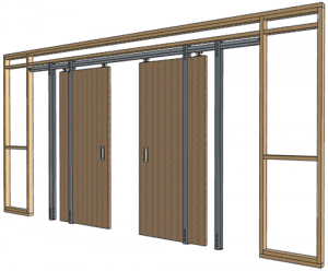 pocket door assembly and framing - Design Build Planners