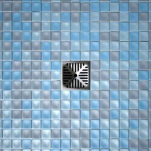 Shower Floor Drain And Mosaics