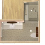 Dollhouse Overview of Hall Bathroom