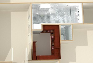 Dollhouse Overview of Master Bathroom