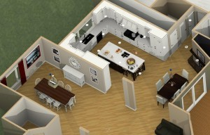 Dollhouse Overview of a Kitchen Remodel and Reconfiguration in Warren, NJ (2)