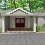 Front Entry Portico in Scotch Plains NJ CAD (1)-Design Build Planners