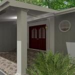 Front Entry Portico in Scotch Plains NJ CAD (2)-Design Build Planners