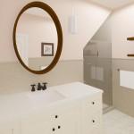 Hall Bathroom From the Vanity Door CAD