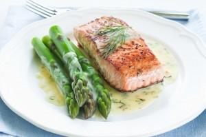 Salmon with Asparagus - Organic Gurlz Gardens Fort Wayne Indiana
