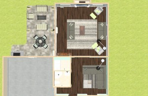 Dollhouse Overview of a Family Room Addition in Hazlet NJ (1)-Design Build Planners