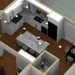 Dollhouse Overview of a Kitchen PLUS in Warren NJ (1)-Design Build Planners
