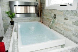infinity soaking tub for bathroom remodeling ~ Design Build Planners (2)