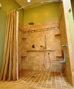 Level entry shower system from Design Build Planners New Jersey