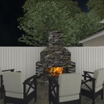 Computer Aided Design of a Custom Stone Exterior Fireplace (1)-Design Build Planners