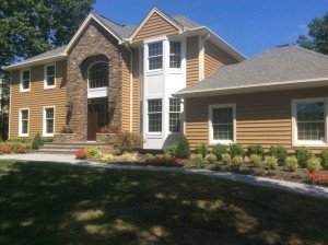 Monmouth County vinyl and stone siding remodel in Manasquan, NJ (1)