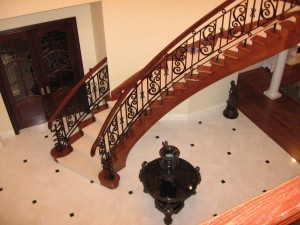 Stairs with a carpet runner - Design Build Planners