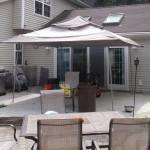 before new stone patio