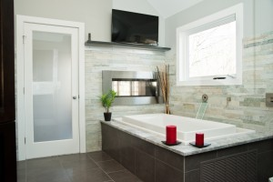 smoked glass passage doors for remodeling - Design Build Planners (1)