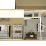 Dollhouse Overview of Kitchen Plan 1 (1)-Design Build Planners