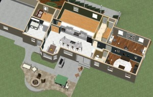 Dollhouse Overview of Kitchen and Master Suite Addition in Franklin Lakes, NJ Plan 3 (1)-Design Build Planners