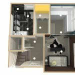 Dollhouse Overview of Lower Level (4)-Design Build Planners