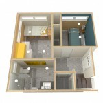 Dollhouse Overview of Lower Level Plan 1 (2)-Design Build Planners