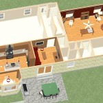Dollhouse Overview of a Kitchen and Master Suite Addition in Franklin Lakes NJ Plan 2 (1)-Design Build Planners