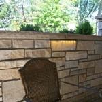 steb stonework and under sill light