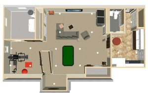 Basement Refinishing in Warren NJ Dollhouse Overview-Design Build Planners