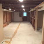 Basement Refinishing in Warren NJ In Progress 10-30-15 (1)