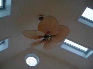Ceiling fan in sunroom - Design Build Planners