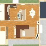 Kitchen and Mud Room Remodel in Mercer County NJ  Plan 2 Dollhouse Oveview (2)-Design Build Planners