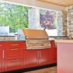 Natural gas bbq grill in outdoor kitchen - Design Build Planners (2)