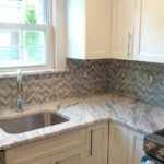 Day 41 - Monmouth County Kitchen NJ Kitchen Remodel - backsplash grout applied - permacolor Shadow Gray from Best Tile Keyport (3)