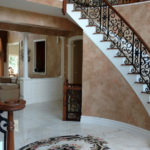 Marble for a Grand Entry Foyer in Warren, New Jersey (3)-Design Build Planners