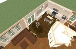 Dollhouse Overview of Monmouth County Kitchen and Bathroom Remodel (1)-Design Build Planners