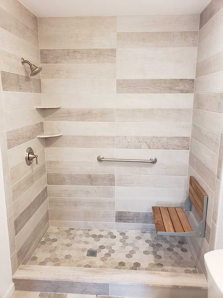 Folding Bench Seat For A Shower