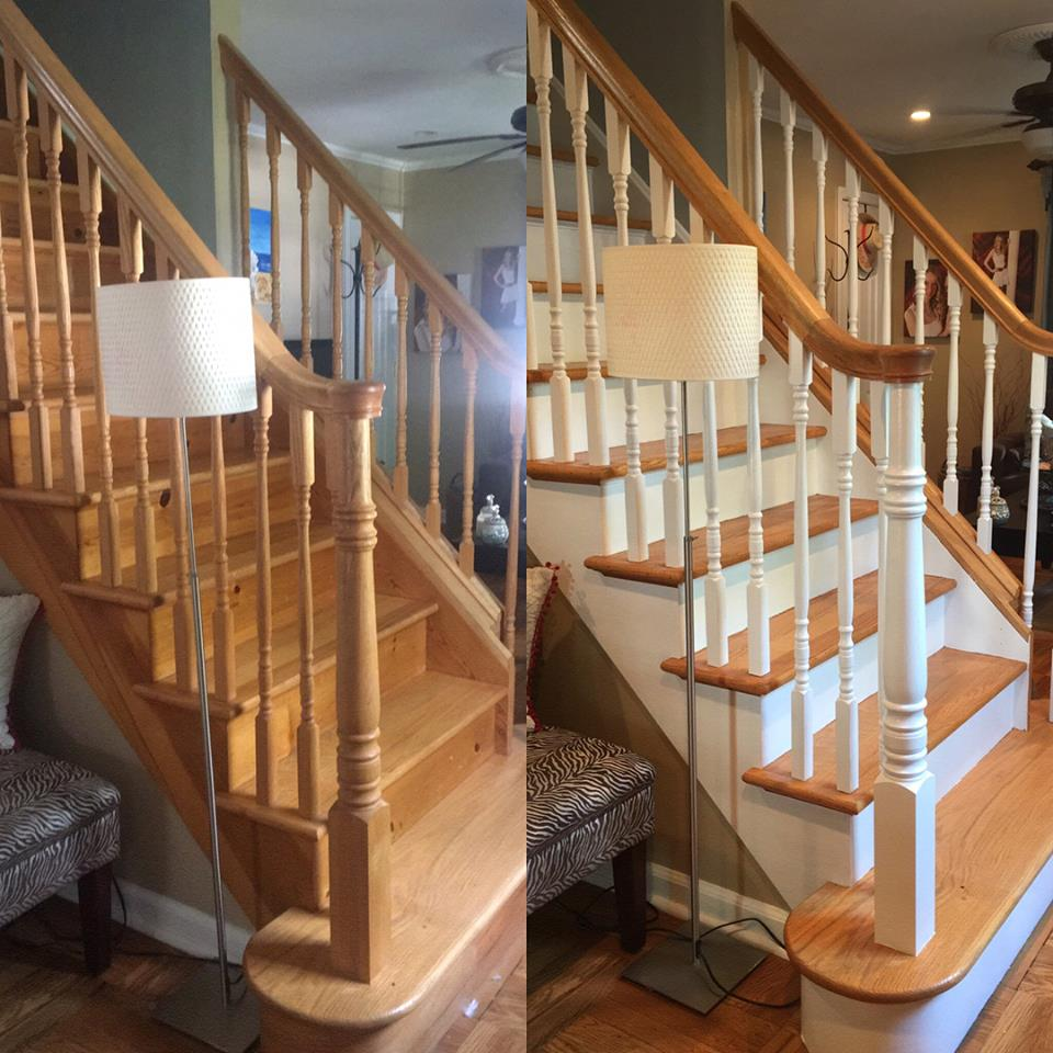 Painted Staircase: Painting Wood Stairs In NJ